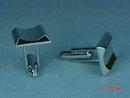 Vintage Hickok Modernistic Silvertone Cufflinks