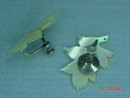 Sterling Mother of Pearl Leaf Screwback Earrings