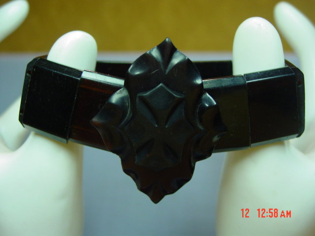 Dark Tortoise Rootbeer Celluloid Stretch Bracelet
