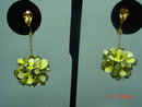 Yellow Enamel Flower Dangle Clip Earrings