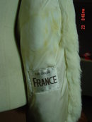 Korea White Rabbit Fur Jacket Size Medium