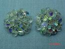 Vintage Crystal Bead Clip Earrings