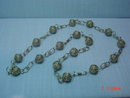 Vintage Guatemala Silver Ball Link Necklace