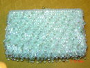 Vintage La Regale Light Blue Beaded Evening Bag Purse