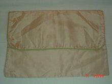 Pale Pink & Green Hosiery or Handkerchief Bag Holder