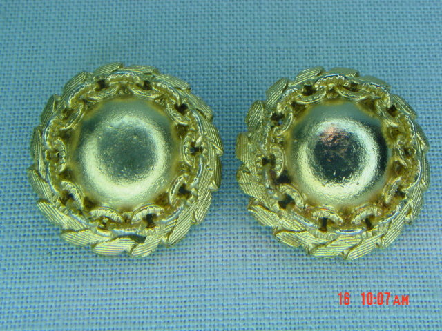 Coro Goldtone Ball Clip Earrings