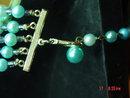 Vintage 5 Strand Blue Bead Japan Necklace