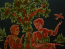 Vintage Raised Velvet Figural Tapestry Purse by Alma-Ide