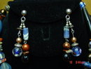 Blue Lapis Sterling Silver Necklace & Pierced Earrings by Cynthia Jean