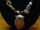 Jasper Turquoise Necklace & Pierced Earrings by Cynthia Jean
