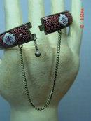 Antique Iran Scenic Enameled Hinged Bracelet