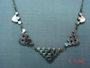 Antique Silver & Rhinestone Necklace