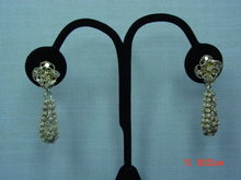Antique Sterling Silver Filigree Flower Screwback Earrings
