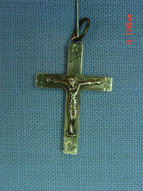 10K Gold Crucifix Cross Pendant