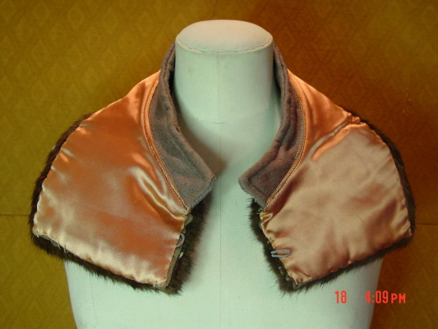 Vintage Dark Brown Mink Collar