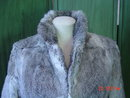 Imperial Hong Kong Mottled Gray Rabbit Fur Jacket Size Medium