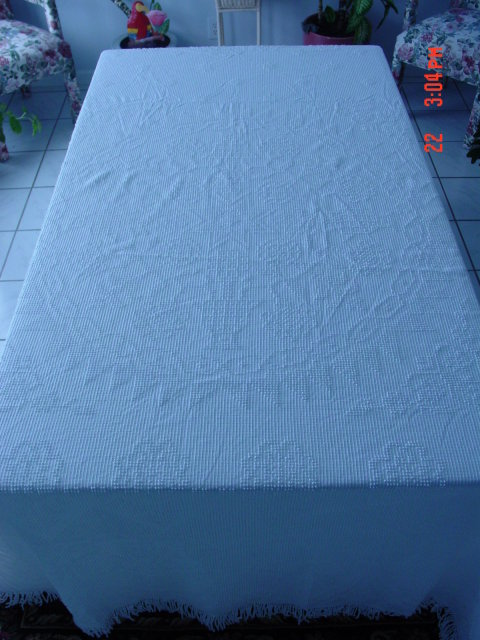 Vintage 110x92 Cotton Candlewick Bedspread