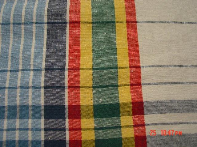 Czechoslovakia Plaid Linen Tablecloth