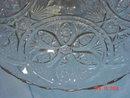 EAPG Glass Pedestal Cake Plate