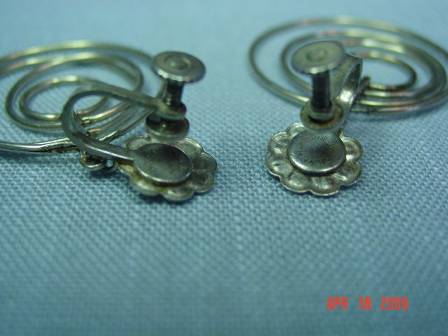 Silver Mexico Screwback Earrings
