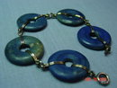 Sterling & Blue Lapis Lifesaver Bracelet