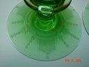 Pair of Green Fostoria 2324 4