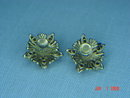 Vintage NEMO Goldtone Pink Rhinestone Flower Screwback Earrings