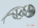 Vintage Stuart Nye Sterling Silver Pansy Brooch