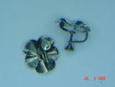Vintage Stuart Nye Sterling Silver Pansy Screwback Earrings