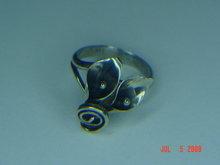 Vintage Stuart Nye Sterling Silver Adjustable Lily Ring