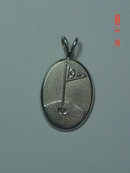 Sterling 19th Hole Flag Golf Pendant
