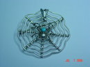 Sterling Silver Spider Web Pin