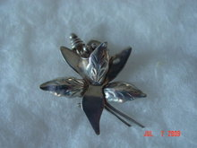 Sterling Silver Orchid Pin