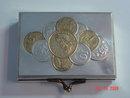 Silver Metal 1915 European Coin Purse Box