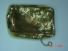 Vintage Whiting & Davis Gold Mesh Short Cigarette Case