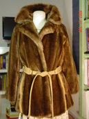 Vintage Plush Brown Faux Fur Mincara Coat by Russel Taylor