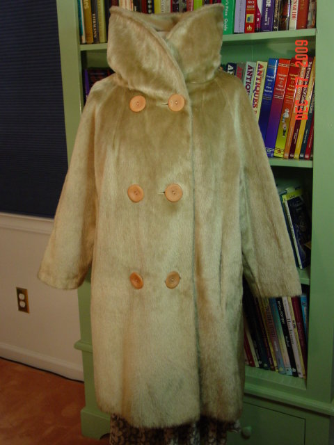 Vintage Brazotta Blonde Faux Fur Swing Style Coat by Fairmoor