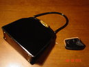 Vintage Genuine Black Patent Leather Bag by Dorian