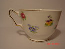 Crown Staffordshire Bone China Floral Bouquet Smooth Footed Cup & Saucer