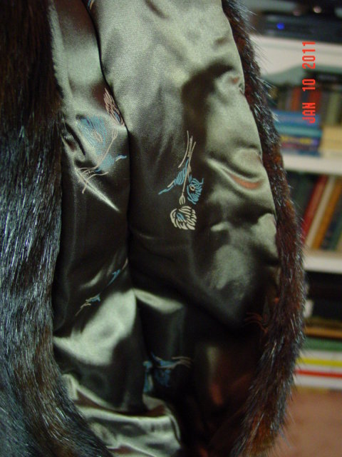 Vintage Brown Fur Capelet