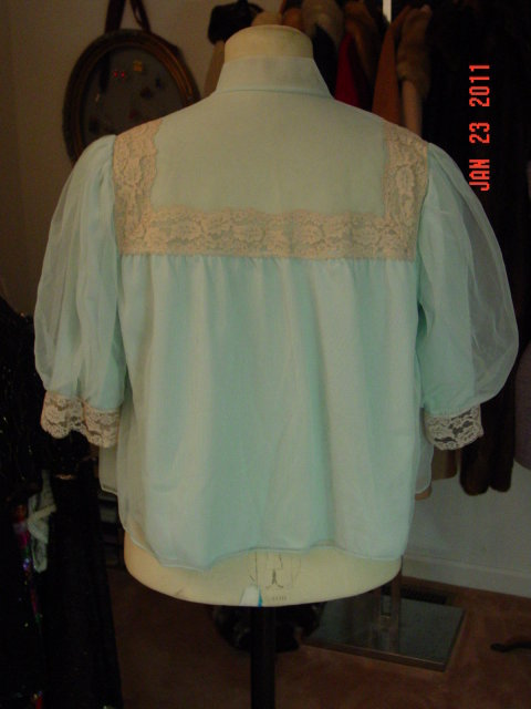Vintage Light Blue  Snowdon Bed Jacket Size Small