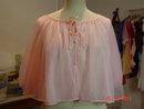 Vintage Van Roalte Pink Nylon Bed Jacket Size Med.