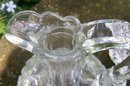 Early American Pressed Glass  Pennsylvania Decanter with Original Stopper Clear