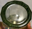 Paneled Smoke Glass Cigar Jar with Metal Lid Early-Mid 1900's