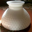 Milk Glass Hobnail Lamp Shade Student Style 8