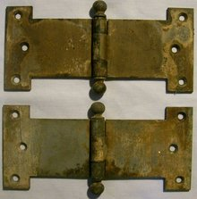 Stanley Sweetheart Door Hinge Pair Early 1900's Heavy Duty Steel 8