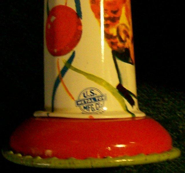 U.S. Metal Toy Tin Noise-Maker Set /3 Vintage 1950's