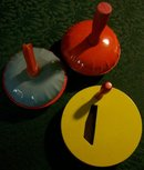 U.S. Metal Toy/Kirchoff Clown Tin Noise-Maker Set/3 Vintage 1930's-50's
