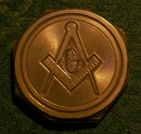 Masonic Paperweight:  Cast Lead