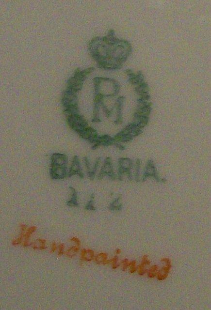 Moschendorf Bavarian Plate with Hydrangea Decoration